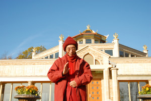 Geshe-la outside NY Temple