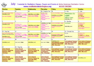 July 2017 timetable
