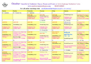 October 2020 timetable2